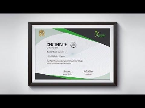 Modern Certificate Design - Photoshop CC Tutorial