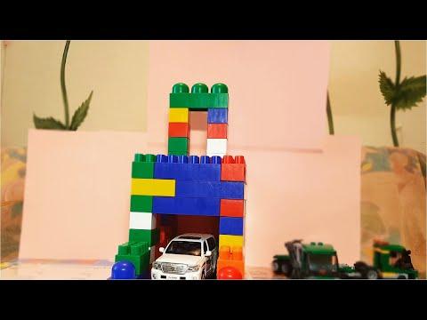 Строим гараж из конструктора Полесье. Building A Garage From The Polesie Constructor