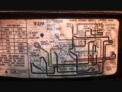 1986 chevy k20 vacuum diagram youtube 1986 El Camino Wiring Diagram