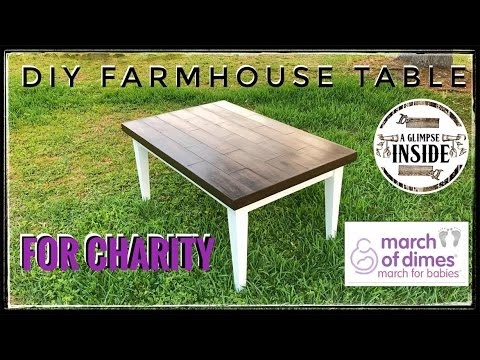 How To Make A Farmhouse Table Youtube