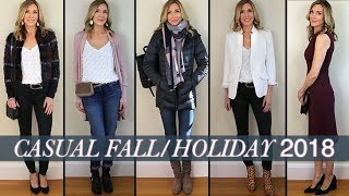 Late Fall + Holiday Outfit Ideas! Cozy Sweaters, Cool Booties, Coated Jeans!!