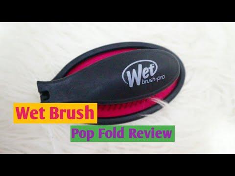 The Wet Brush Pop Fold Review | Regular Wet Brush Vs Pop Fold Wet Brush