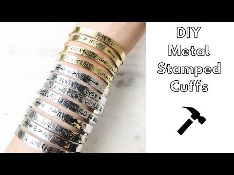 DIY-  Metal Stamped Aluminum Cuff Bracelet