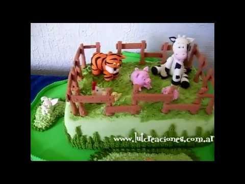 Torta Infantil La Granjita - Lut Creaciones arte y diseño