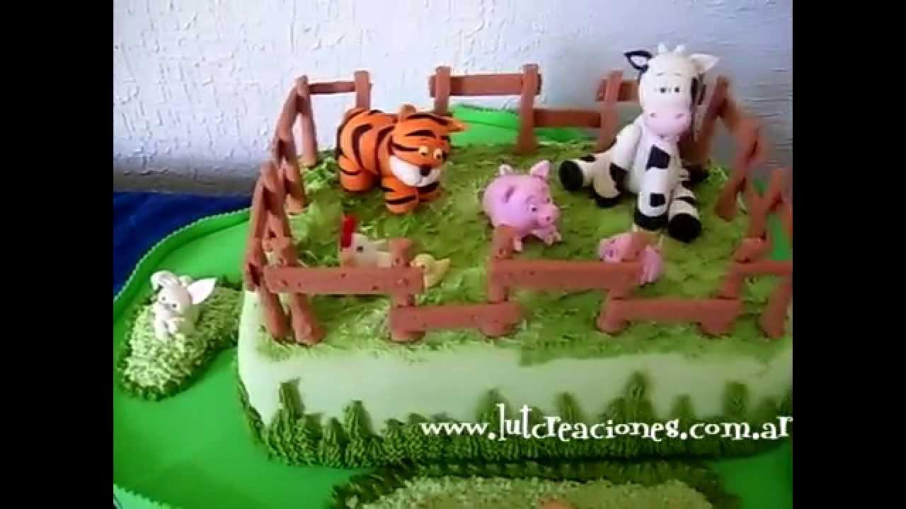 Torta Infantil La Granjita - Lut Creaciones arte y diseño - YouTube