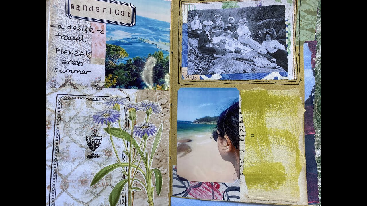 #junkjournaljuly | Part 7: prompt no.8 'wanderlust' and no.12 'in the garden' | craft with me