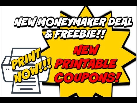 NEW MONEYMAKER DEAL & FREEBIE!!! | PRINT NOW NEW COUPONS! 🖨