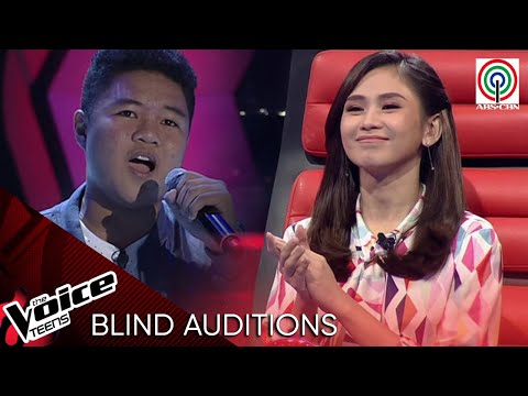 Yohann Rulona fascinates Coach Sarah with his blind audition | The Voice Teens Philippines 2020