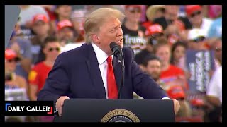 Trump Stops Rally For A 100-Year-Old Veteran