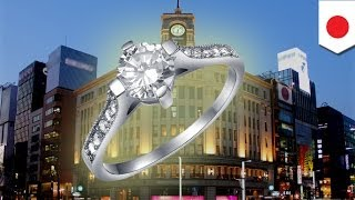 A diamond ring worth US$350,000 stolen in WAKO jewelry shop in Ginza Tokyo on Christmas Eve
