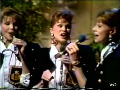 THE McGUIRE SISTERS sing a medley of their hits a capella 1990