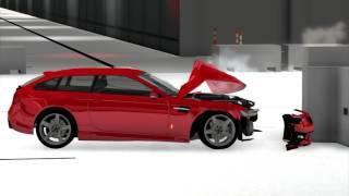 etk k series hatchback small overlap crash test