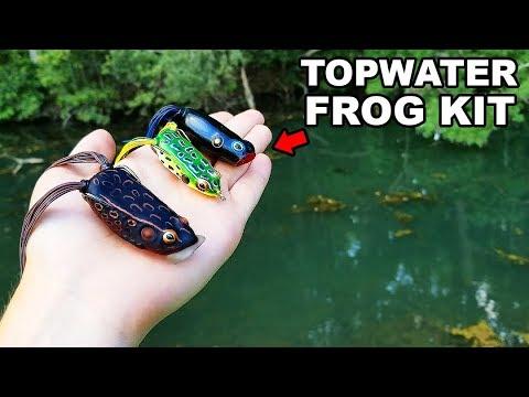 Topwater FROG Fishing Kit Challenge (Huge Blowups!)