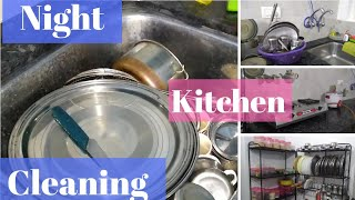 Night kitchen cleaning routine, Non modular kitchen, Indian kitchen, kitchen cleaning after dinner