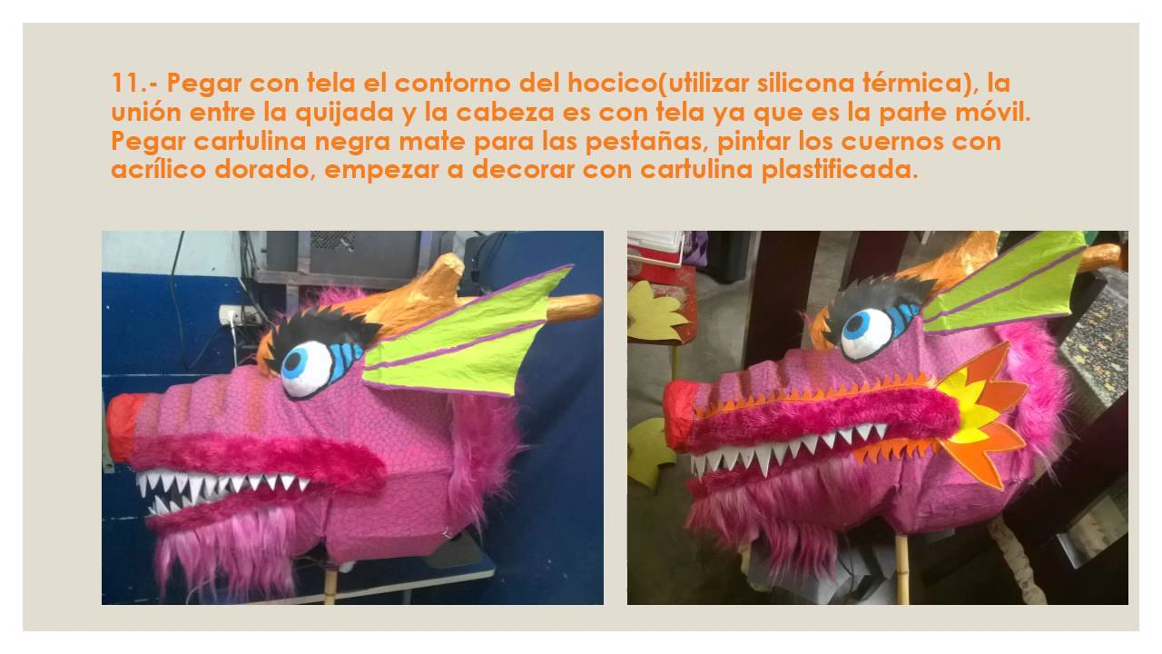 COMO HACER UN DRAGÓN CHINO - HOW TO MAKE A CHINESE DRAGON - YouTube