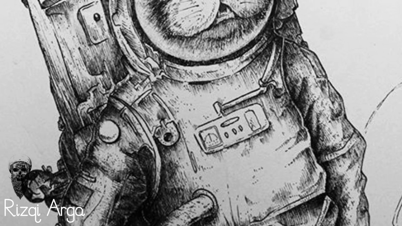 Pen And Ink Drawing Time Lapse : Castronaut