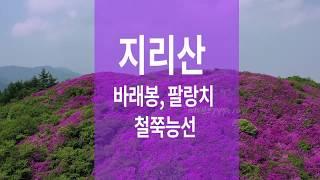 지리산 바래봉 팔랑치 철쭉능선 드론영상