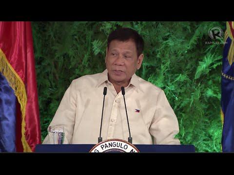 President Rodrigo Duterte's inaugural speech