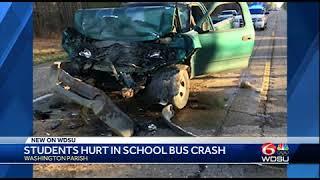 Washington Parish students hurt in school bus crash