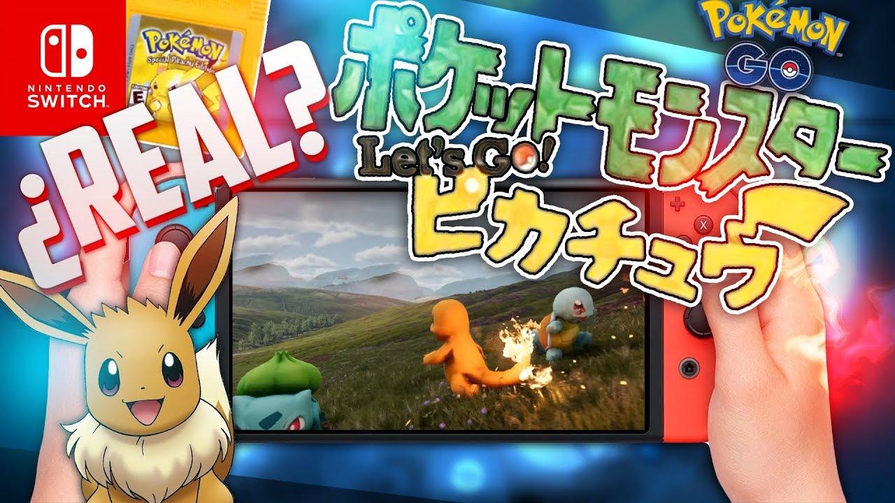 Pokemon Let S Go Es Real Los Nuevos Juegos Pokemon Para Nintendo
