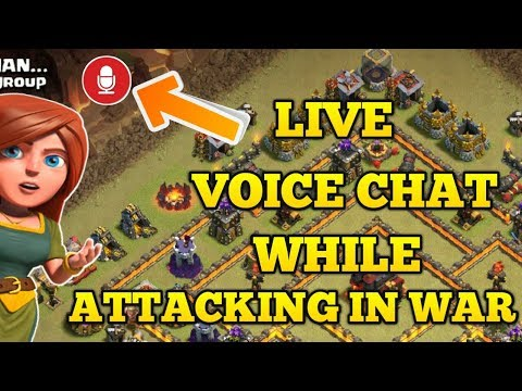 OMG 😲 LIVE VOICE CHAT WHEN ATTACKING IN WAR concept CLASH OF CLANS!!