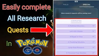 How to complete all Research quests of professor Ook in Pokemon Go