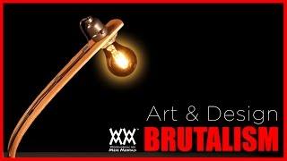Brutalist Style Lamp. Bent Wood and Concrete. | ART & DESIGN