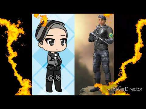 Os personagens do free fire versão gacha life(1/2)