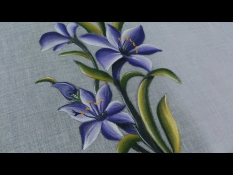 FABRIC PAINTING TUTORIAL. FABRIC PAINTING ON CLOTHES.