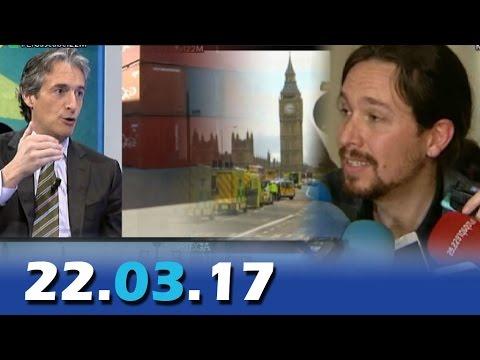 El Cascabel 13tv 22.03.17   Londres   Ministro Fomento: La Estiba   Iglesias al lado de los verdugos