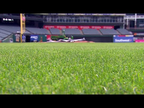 Texas Weather Presents Challenge For Globe Life Park Grounds Crew