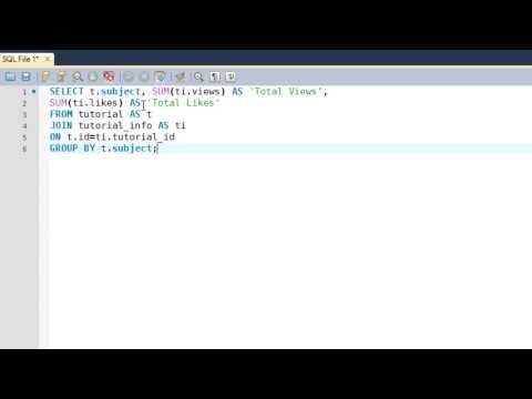 SQL Tutorial - 30: Using GROUP BY Clause With SQL JOINS