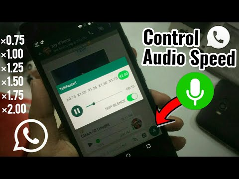 How To Control Whatsapp Audio Speed 🚀 New Feature 2019  || Tech4X