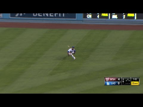 Puig makes an outstanding diving snag
