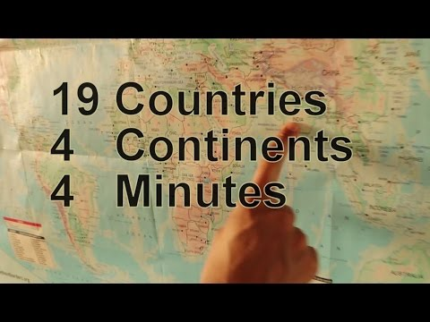 19 Countries 4 Continents 4 Minutes