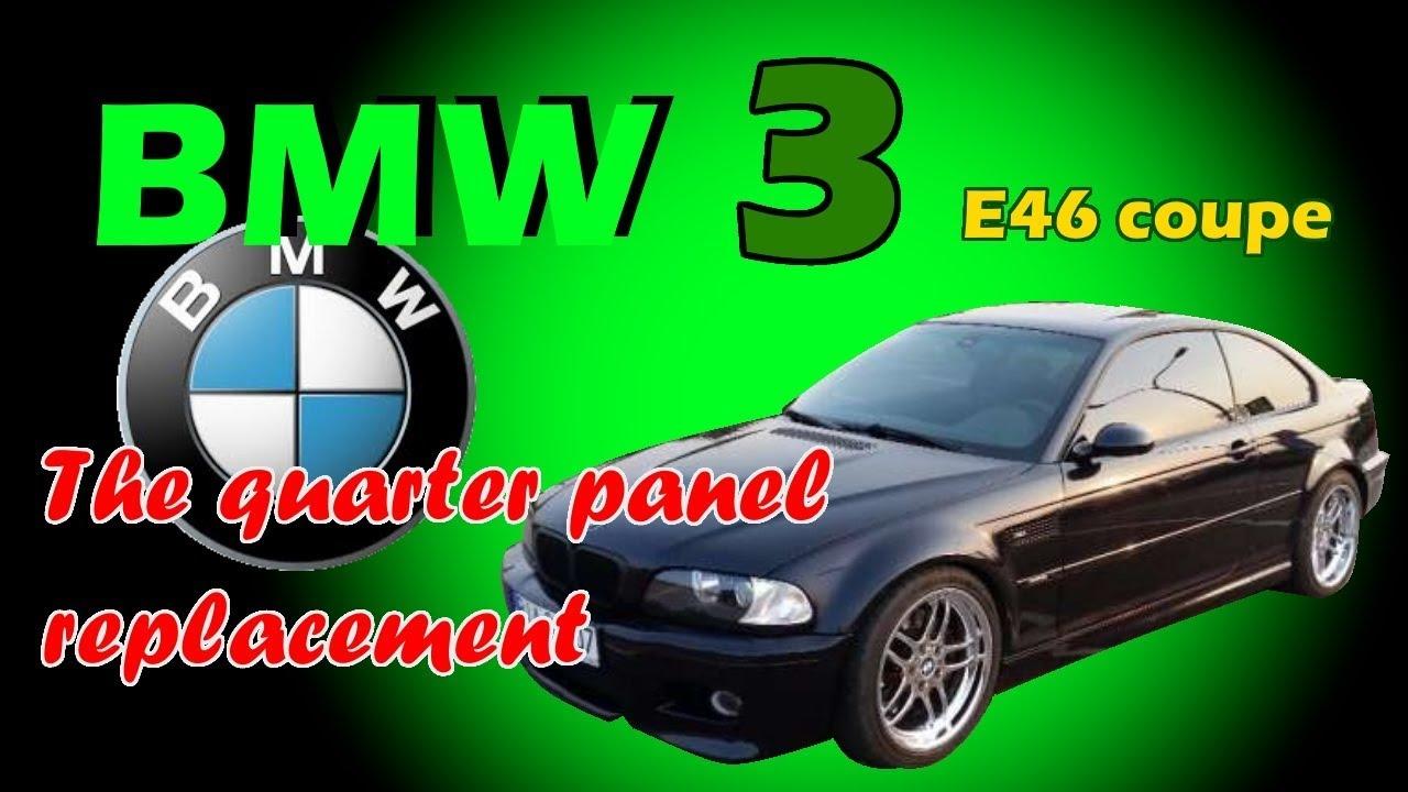 BMW 3. E46. The rear part repair of the car.  Ремонт задней части машины.