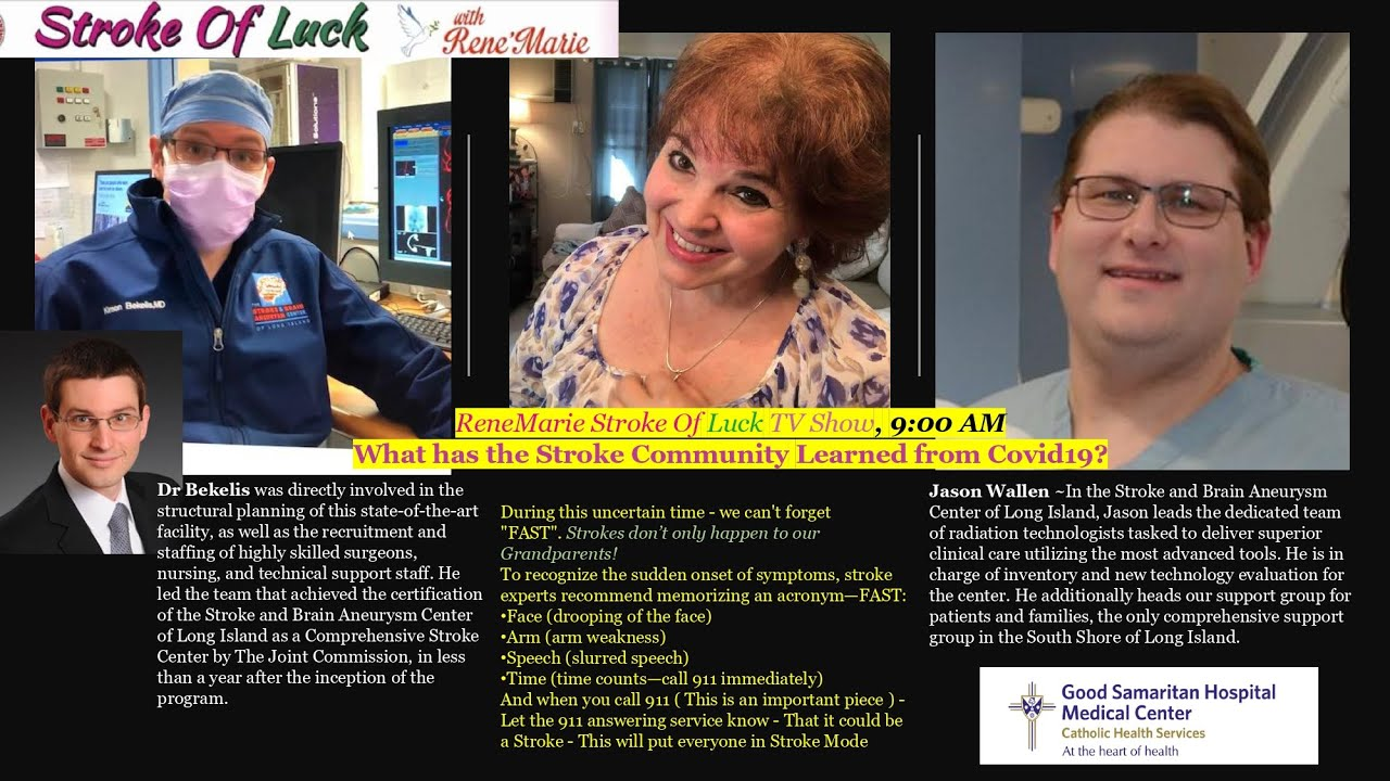 What has the Stroke Community Learned from Covid19? ~ReneMarie Stroke Of Luck TV Show 5/31/2020  9AM