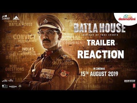 Batla House Trailer Reaction  John Abraham Mrunal Thakur Nikkhil Advani