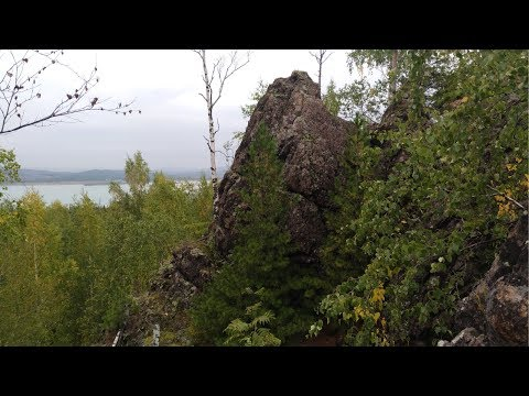 Жуков камень, гора Луковая, Шламохранилище Качканара с высоты полёта