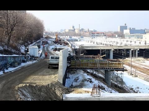 Prokop - izgradnja gornjih pristupnih saobraćajnica, januar 2017.
