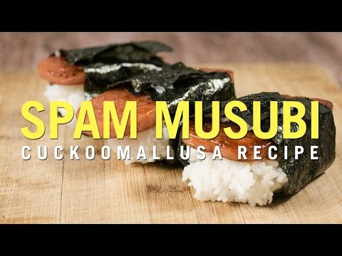 Cuckoo Rice Cooker Recipe: Sriracha Spam Musubi
