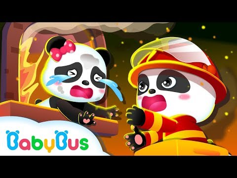 Baby Panda Firefighter's Emergency Mission | Fire Truck Rescue Team | BabyBus