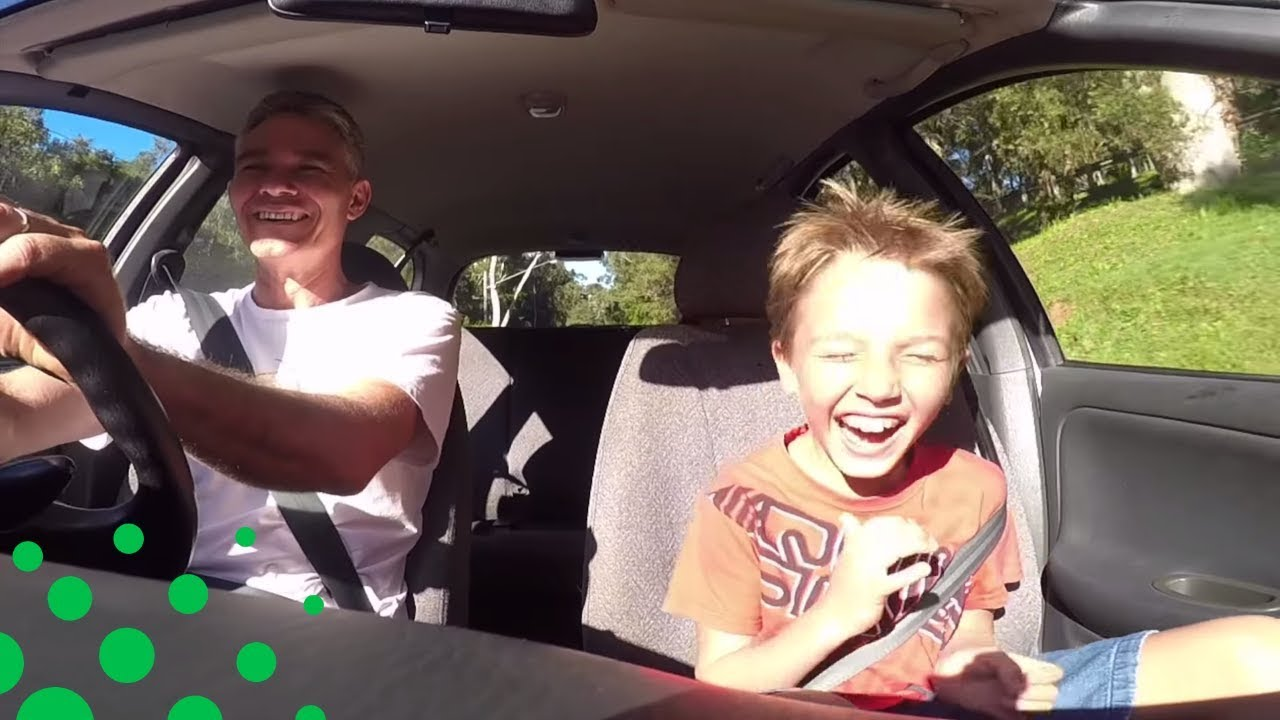 DAD PRANKS SON WITH FAKE CAR HORN PRANK - YouTube