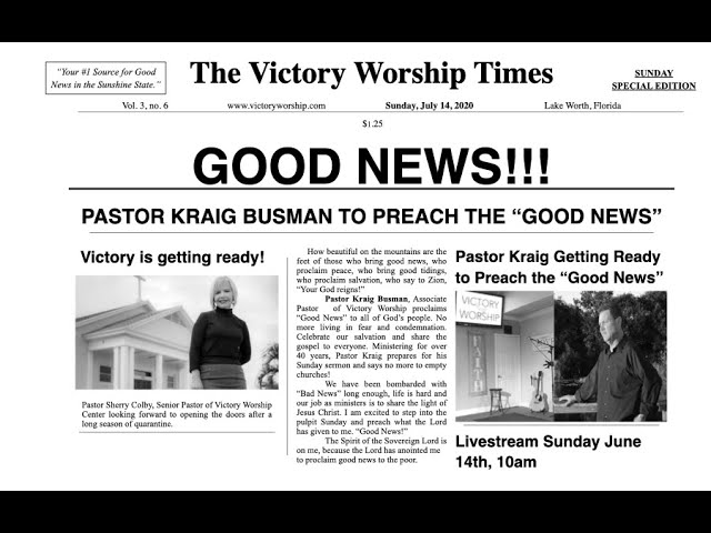 Good News for a Change with Pastor Kraig