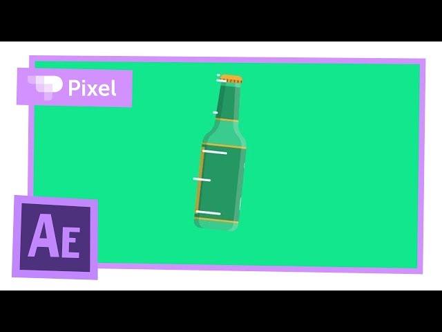 Анимация с псевдо-3D поворотом в Adobe After Effects