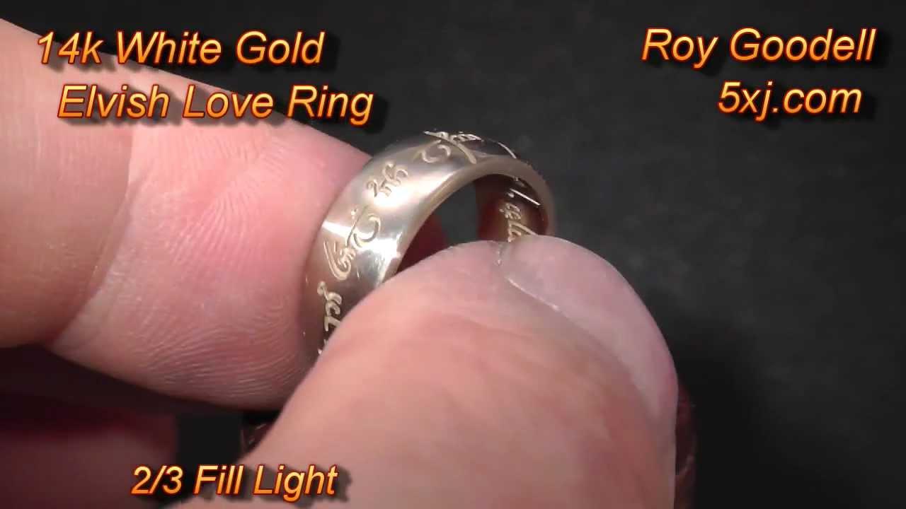 14k White Gold Elvish Love Ring - YouTube