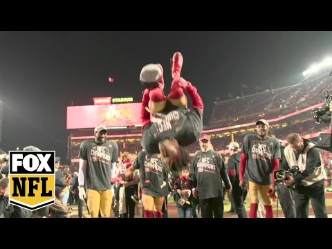 49ers to the Super Bowl: Step onto the field with the NFC champions as they celebrate | FOX NFL