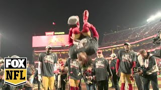 49ers-to-the-super-bowl-step-onto-the-field-with-the-nfc-champions-as-they-celebrate-fox-nfl