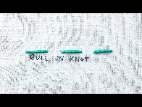 How to do a Bullion Knot