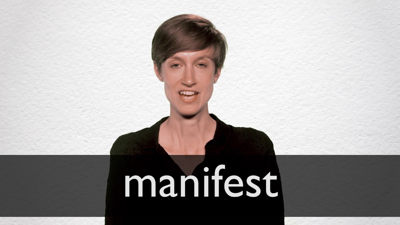 Manifest definition and meaning ...